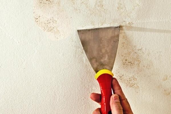 как исправить потолок после покраски