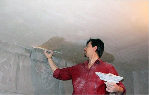 потолок в ванной под покраску