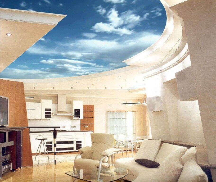 натяжные потолки с 3d эффектом фото