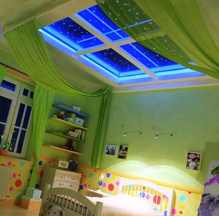 потолок 3д фото в квартире