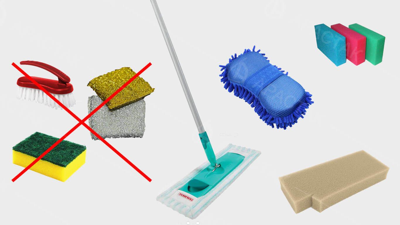 как и чем мыть натяжной потолок дома