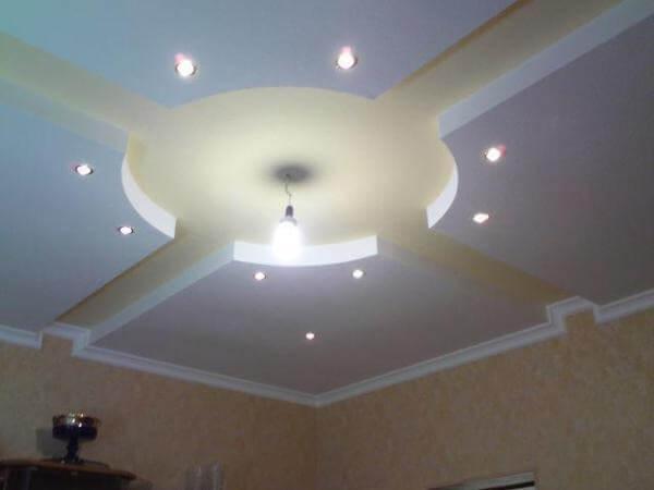 фигурные потолки для спальни