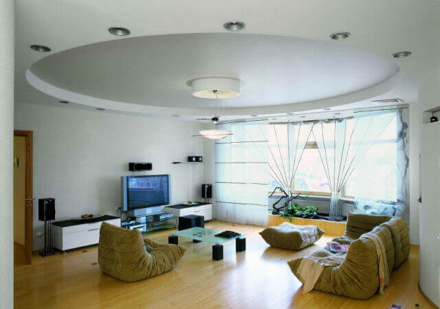 круглые потолки из гипсокартона фото