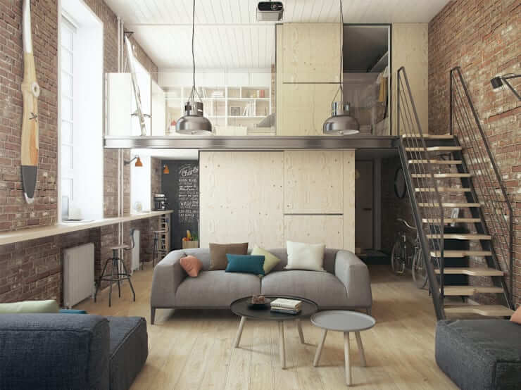 как использовать высокие потолки в квартире