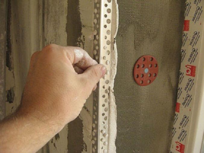 как шпаклевать закругленный потолок круглые углы