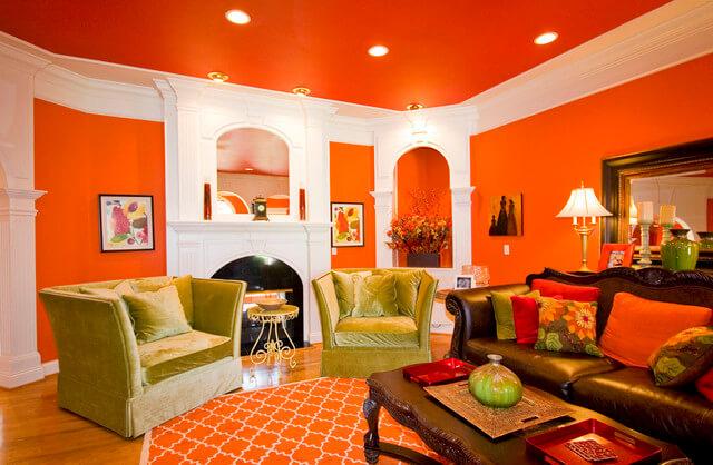 цвет потолка в гостиной