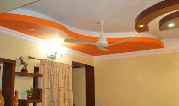 фигурные потолки из гкл