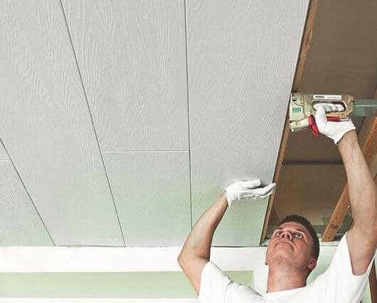 обшивка потолка мдф панелями