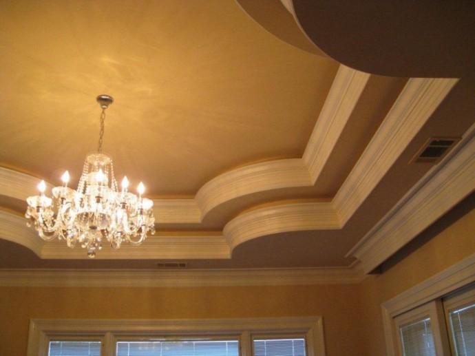 какие нужны плинтуса на двухуровневый круглый потолок