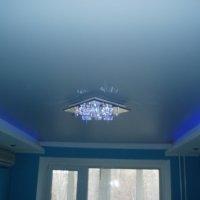 Голубой потолок в интерьере