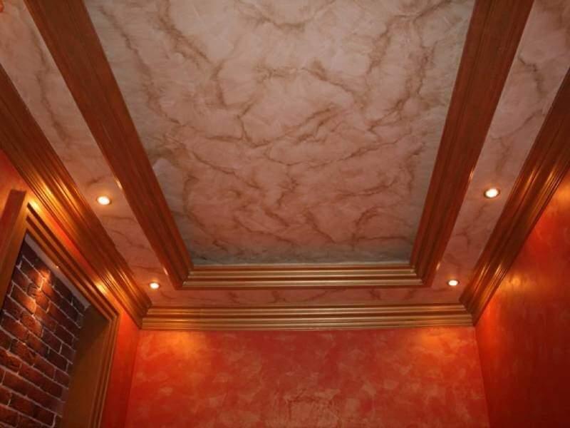 венецианская штукатурка на потолке