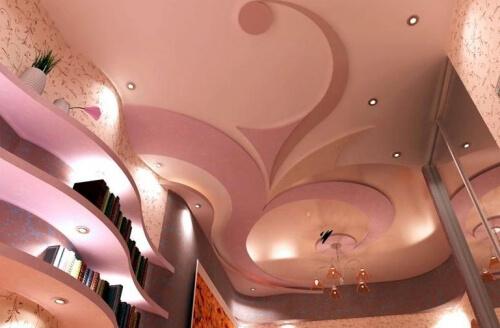 гипсокартонные потолки фигурные