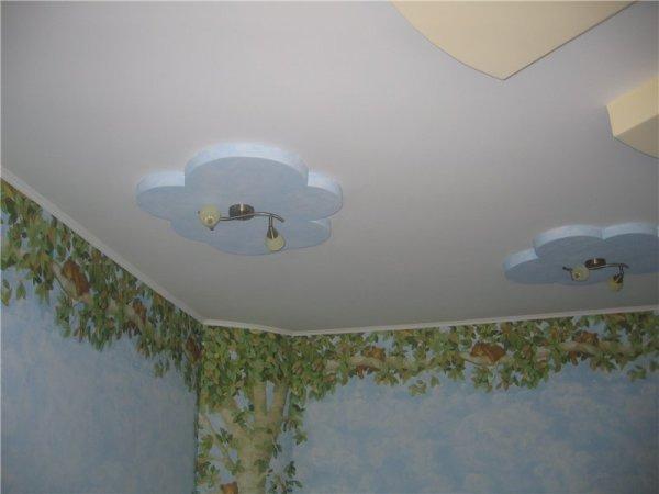 покраска потолка в детской