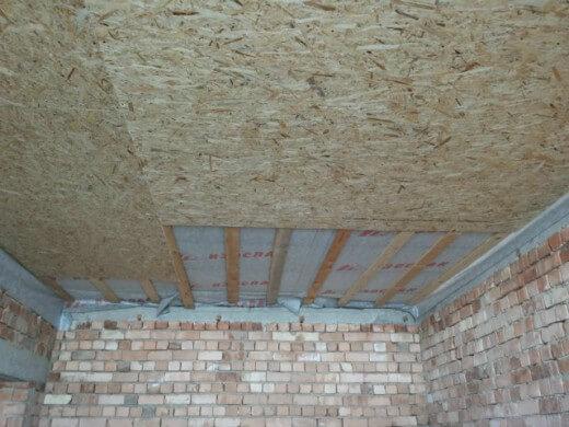отделка потолка из осп плиты