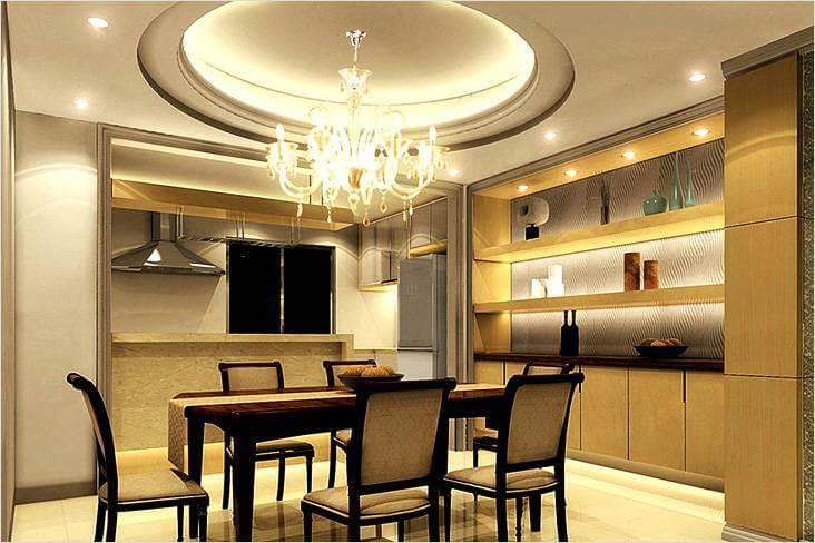 фигурные потолки из гипсокартона фото на кухне