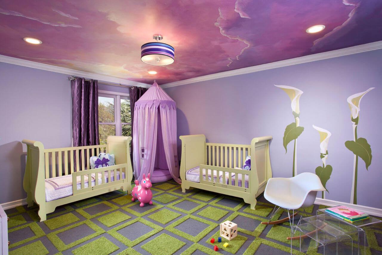 покраска потолка в комнате у подростка мальчика