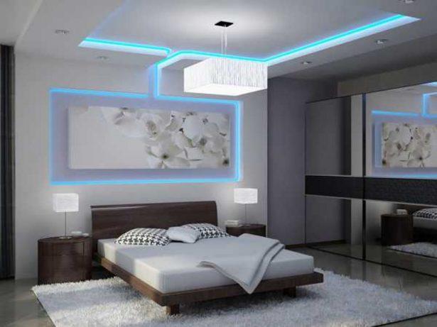 фигурные потолки из гипсокартона фото в спальне
