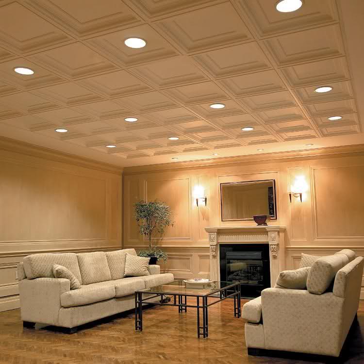 как оформить низкий потолок фото