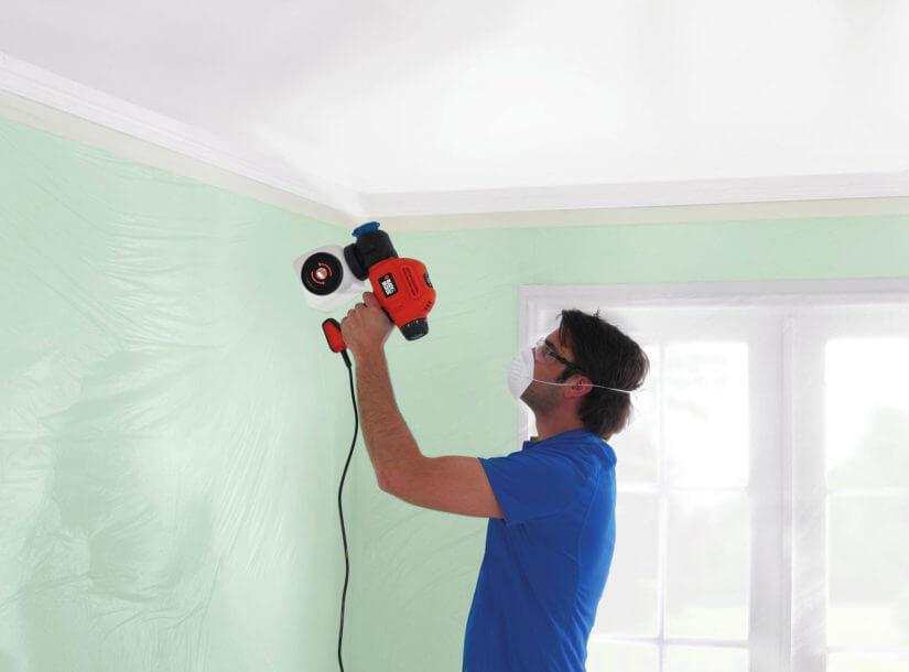 покраска потолка водоэмульсионной краской своими руками
