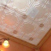Покраска потолка из пенопластовой плитки