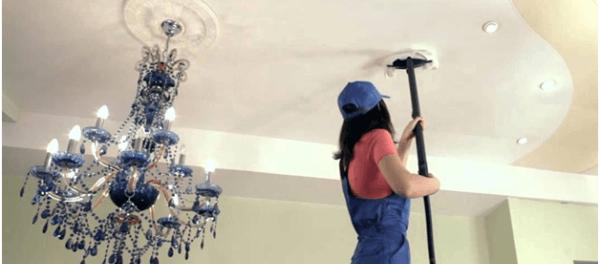 как вымыть потолок покрашенный водоэмульсионной краской