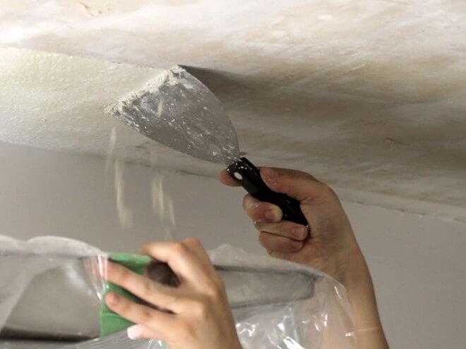 как подготовить потолок под покраску водоэмульсионной краской