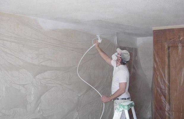 чем можно покрасить потолок после побелки
