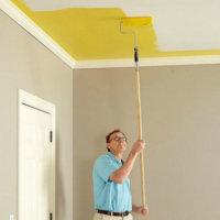 Перекраска потолка водоэмульсионной краской