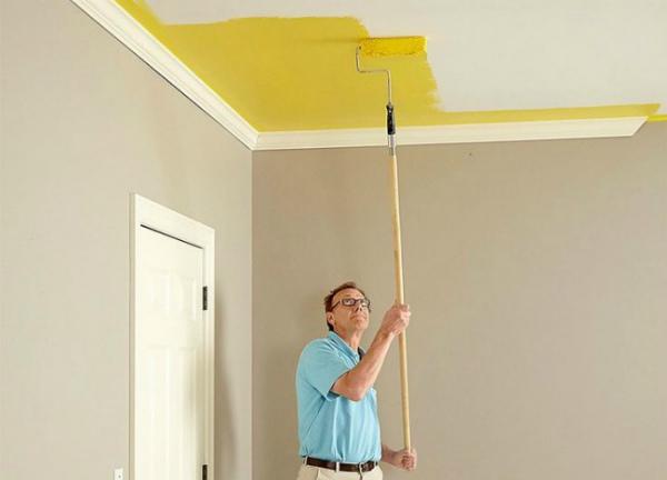 водоэмульсионная краска для потолка как красить повторно