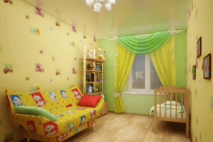 цвет потолка в комнате