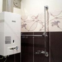 Обустройство ванной с водогрейной колонкой