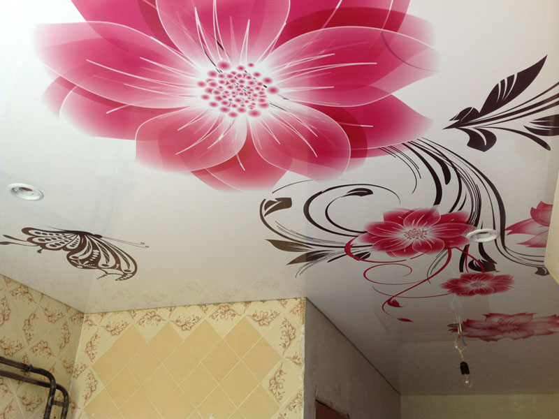 цвет потолка на кухне