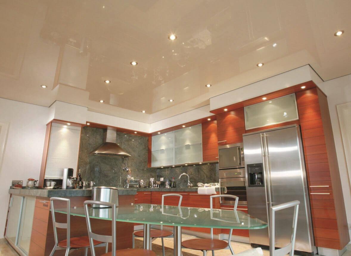 ремонт кухни натяжные потолки