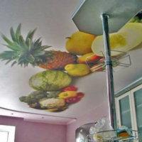 Как выбрать цвет потолка на кухне