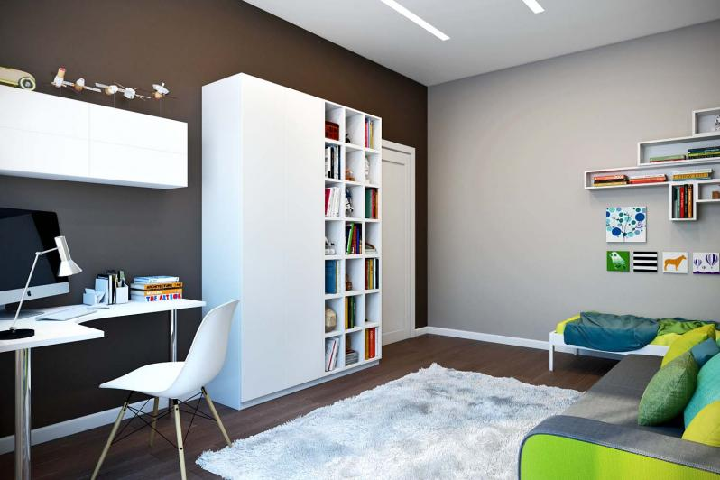 как красиво поклеить потолок обоями двух цветов