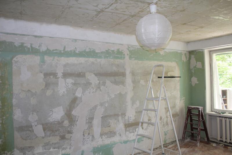 подготовка стен для натяжного потолка