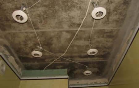подготовка к монтажу натяжных потолков