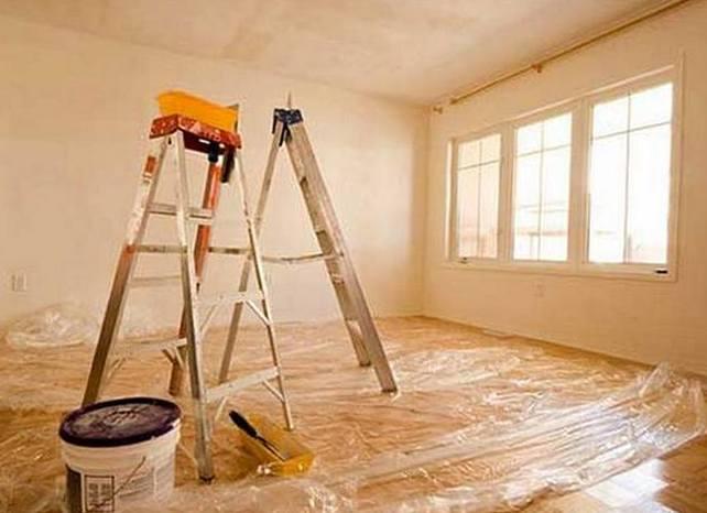 косметический ремонт стен и потолка