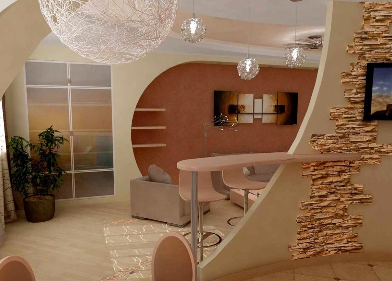 Отделка стен кухни столовой гипсокартоном фото