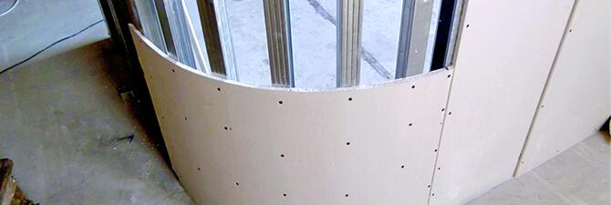 как сделать полукруглую стену из гипсокартона