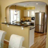 Перегородка из гипсокартона между кухней и гостиной
