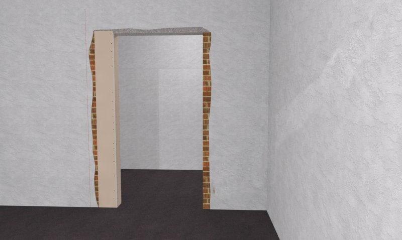 как уменьшить дверной проем по высоте гипсокартоном