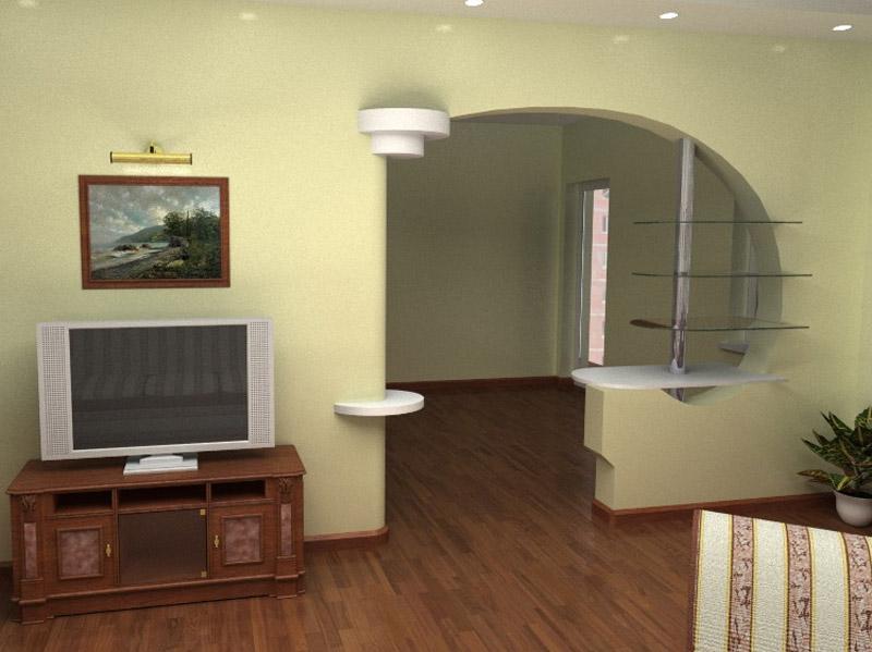 конструкции для интерьера из гипсокартона