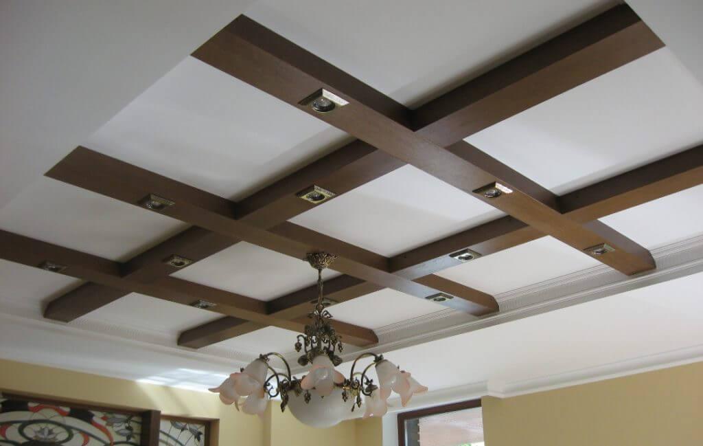 как сделать балку из гипсокартона на потолке