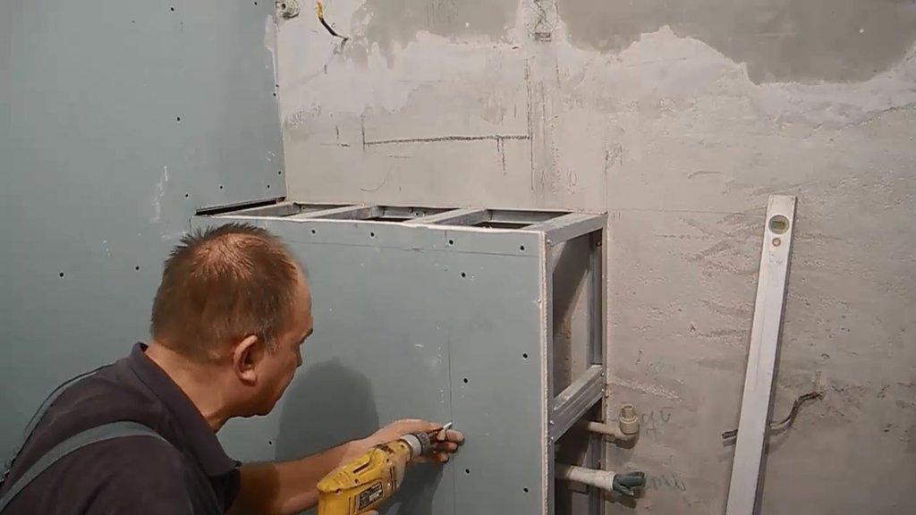 короб из гипсокартона в ванной своими руками