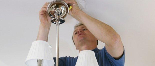 как закрепить люстру на потолке из гипсокартона