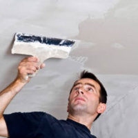 Оштукатуривание гипсокартонного потолка