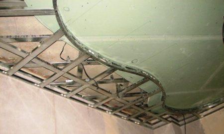 как сделать волну из гипсокартона на потолке