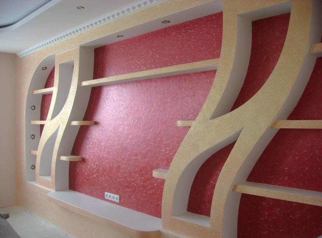 узоры из гипсокартона на стенах