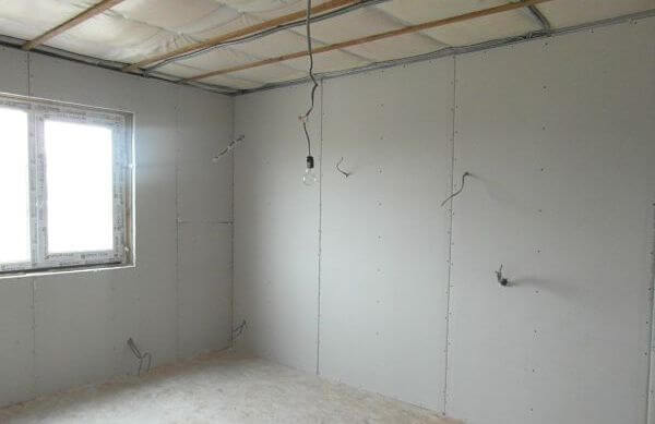 внутренняя отделка дома из сип панелей гипсокартоном